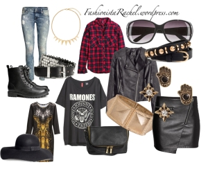 Some ideas for the grunge look (all can be found on www.hm.com)