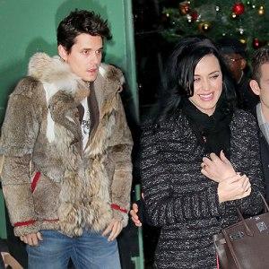 Perry with Boyfriend John Mayer leaving Good Morning America