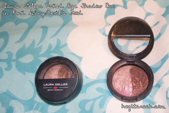 Laura Geller Baked Eyeshadow Duo in Pink Icing and Devil's Food